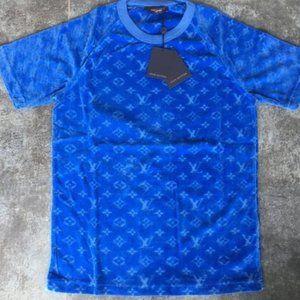 LOUIS VUITTON MEN`S NEW MODEL TOWEL FABRIC T-SHIRT